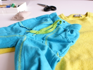 Upcycling-Hose aus Pullover