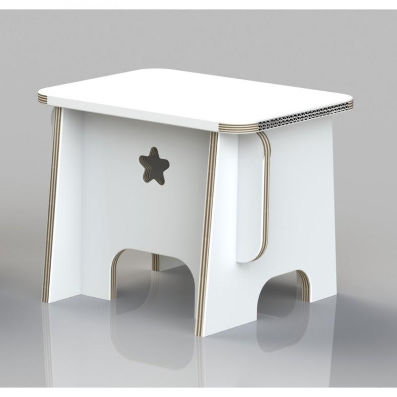 3463-Papphocker-weiss-Mini-Bench
