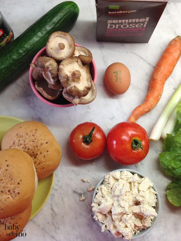 VegetarischerBurger-zutaten
