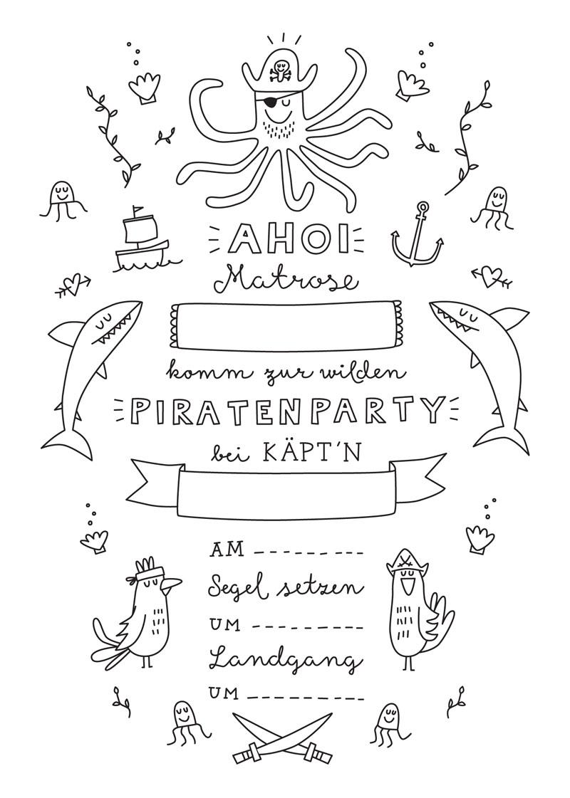 Schiff Ahoi Auf Der Piratenparty Natürlich Kindgerecht
