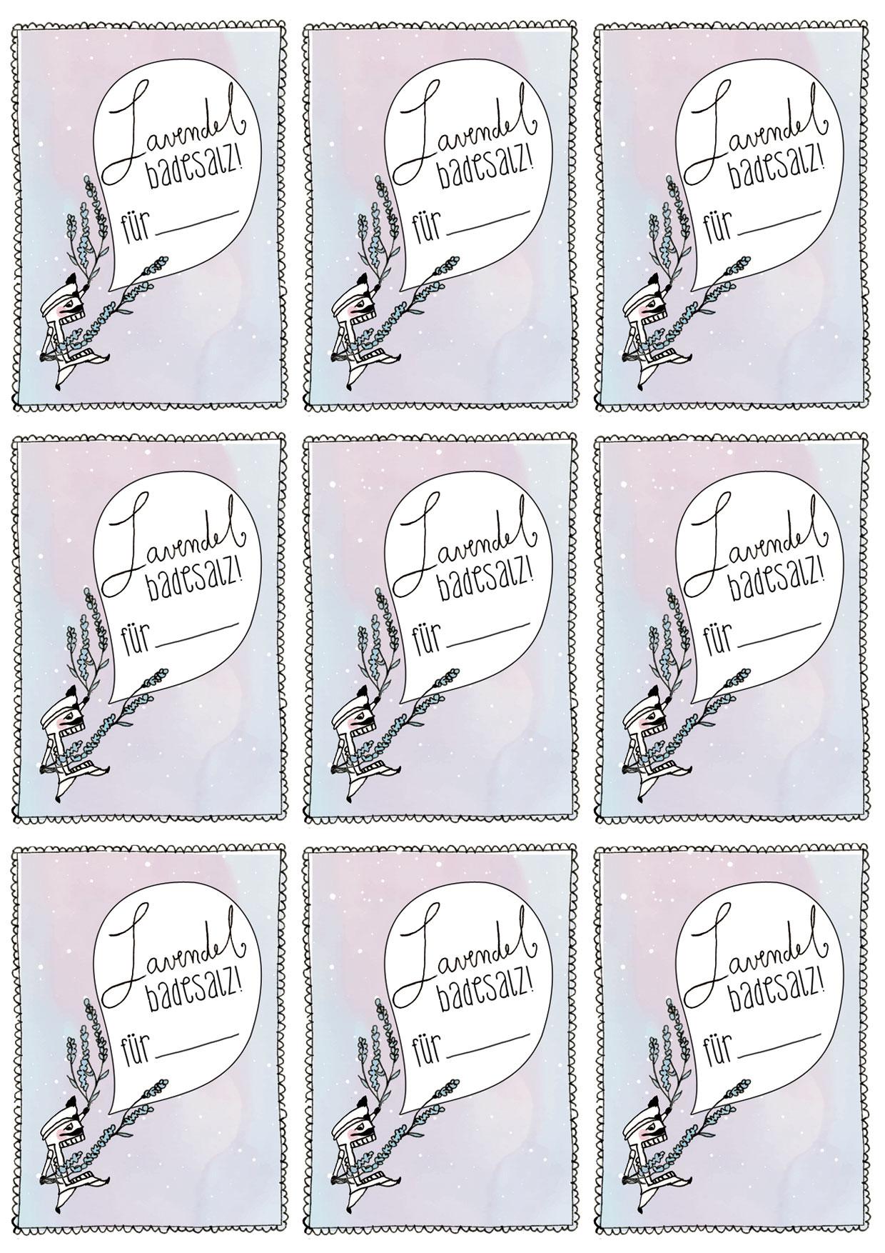 Weihnachtsgeschenke selbst gemacht -Lavendel-Badesalz | Nachhaltig ...