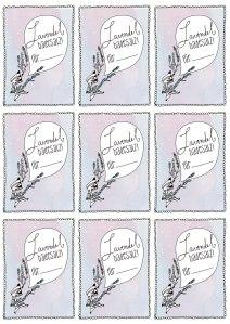 Lavendel-Badesalz-Etikett-Freebie
