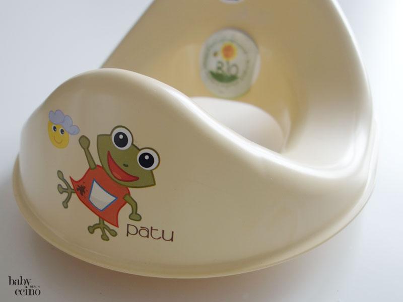 WC-Sitz-Toilettensitz-Bio-Patu-beige-Druck-Frosch-Patu-kompostierbar