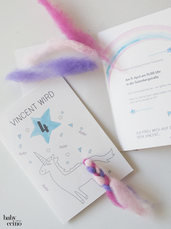 Einhorn-Party: DIY-Einladungskarten | Nachhaltig Gutes für Familien