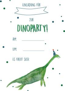 Dinoparty Nachhaltige Deko Tipps Und Einladung Zum Ausdrucken